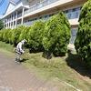 学校の様子:学校周囲の草刈り