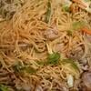 今日の夕飯は、マルちゃん焼きそば、バーベキュー味。