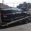 浦安市からレッカー車で車検切れのパンクした不動車を廃車の引き取りしました。