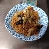 幸運な病のレシピ( 2379 )夜:熊肉焼きそば、マユのご飯、汁仕立直し、ぬか漬け