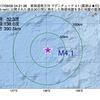 2017年09月09日 04時21分 東海道南方沖でM4.1の地震