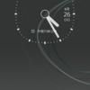 スマホ Xperia ロック画面の時計の時間表示がアナログからデジタルに戻したい