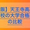 【高校受験2020】天王寺高校の併願校の大学合格実績を比較