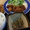 習志野市 京成大久保 まんぷく食堂 から揚げ食べ放題と カキフライ定食