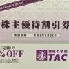 TAC 4319 から 株主優待券が到着!