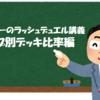 ルーシーのラッシュデュエル講義~デッキタイプ別デッキ比率編~