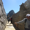 マチュピチュ  主神殿に向かって登る