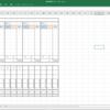 Excelで麻雀の得点集計用シートを作ってた。