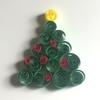 工作アイデア⑧ペーパークイリング風「クリスマスオーナメント・ツリー」