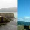 奄美市名瀬港で高さ11mの灯台が消失!『名瀬港西防波堤灯台』だと思われるが、自然の力は凄まじい!2017年末には爆弾低気圧による高波で留燃港で16mの灯台が消失!