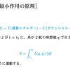 【解析力学】【変分法】最小作用の原理を理解する