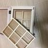 セリアのコレクションケース ワイド版と木製仕切ボックスで アクセサリーボックスを新しくつくりました。
