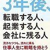 佐藤文男『3年後、転職する人、起業する人、会社に残る人』〜読書リレー(107)〜