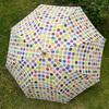 水玉の傘、スマホ半分の傘