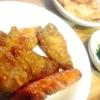 鮪ソテー、豚肉ウィンナー、ブロッコリー