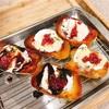 いちごジャム+アイス乗せバタートーストの作り方|簡単カフェメニュー