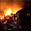 火災映像!熊本市南区の材木店で火事!菊本材木店の倉庫火災