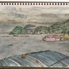 五十年経る島影や図画の夏