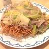 三越前ランチ 個人的に皿うどん部門優勝 無料で野菜増量中!