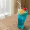 【ディッシャー無しでOK】ブルーのクリームソーダの作り方