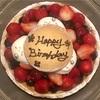 アニーズカフェのお誕生日ケーキ