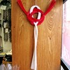 水引の玄関飾り~紅白のおめでたいの