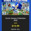 BandleStarsでSonic Game Collectionが$19.9
