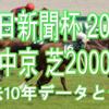 【中日新聞杯 2020】過去10年データと予想