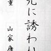 【ペンの光】2017年4月号「筆ペン部」の練習 ~完成~