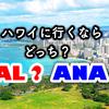 ハワイに行くなら JAL?ANA?飛行機、ホテル、ツアープランを別角度から見る