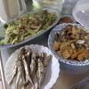 幸運な病のレシピ( 1237 )朝:シシャモ、青梗菜と新玉ねぎとタケノコの牛肉炒め、味噌汁(生ワカメ・タケノコ)