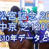 【高松宮記念 2021】過去10年データと予想