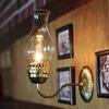 アンティーク照明にガラスチムニー(火屋)が綺麗なヴィンテージブラケットライトをアップ!
