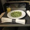 日本航空のビジネスクラス(往路後編)