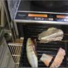 幸運な病のレシピ( 2144 )朝 :魚(イシモチ、鮭、塩サバ)、味噌汁、マユのご飯