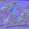 3D世界地図用の法線マップを作ってみる