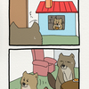 チベットスナギツネの砂岡さん「お家3」