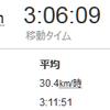 3時間アベレージ30km/h達成