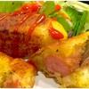 フライパンで作る ポテトチーズドッグ(アメリカンドッグ)