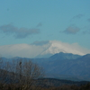 御嶽は雪雲に巻かれていた
