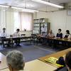 原水禁世界大会に向け、核兵器廃絶を求める平和行進。県庁で県に要請行動。