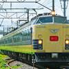 8月16日撮影 磐越西線 喜久田駅 帰ってきた 583系 快速あいづ号 ②