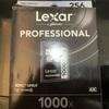 256GのSDカードLexar2000xを買ったのでスピードをチエックしてみました。