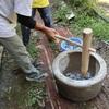 古紙で創る炭鉢の試作