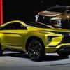 ● 存在感をアピールする三菱自動車! 4WDコンセプトモデルを展示