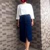 シルエットが綺麗!【GU】デニムラップスカート MQ