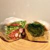 萌え断サンドイッチのPOTASTA代々木上原店で1月限定の新商品をいただきました!紅芯大根のマリネサラダとスクランブルエッグ&ベジタブル胡麻ソース