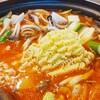 キムチチゲ麺入り!❤🍴(・Θ・)