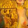 グスタフ・クリムトの「ユディトⅠ」をクレヨンで模写しました。