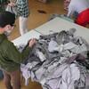 作業服の仕分け作業 なつめ班の研修日